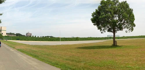 宝来グランドの野球場