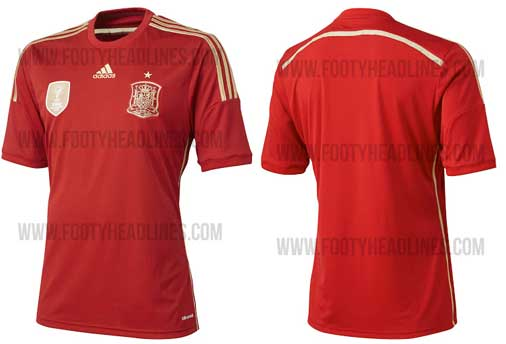 新ユニフォーム2014 スペイン